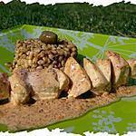recette Ooo Brochette Tandoori massala, Ebly aux olives & tomates séchées ooO