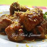 recette Côtelettes de porc frit à la sauce d'orange