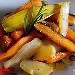 recette carottes rôties au miel et romarin