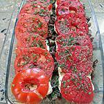 recette Gratin d'aubergines au boeuf haché et mozzarella