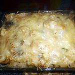 recette Gratin de pate au champignon