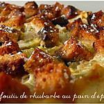 recette Clafoutis de rhubarbe au pain d'épices