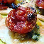 recette TARTELETTES FEUILLETEES AU PESTO POIVRONS & TOMATES CONFITES