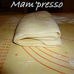 recette Pâte feuilletée levée (pour croissants)