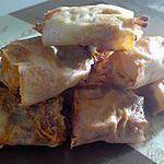 recette ~Le petit apéritif brické au jambon et fromage~