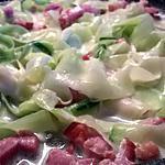 recette tagliatelles de courgette lardon /crème