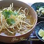 recette Kao Soy~ Nouilles d'œuf aux curry thaï du nord (Ching-Mai).