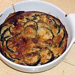 recette Gratin de courgettes au cumin ,tartare et tomates séchées