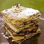recette Mille-feuilles au café et au chocolat