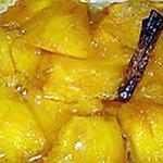 recette Mangue vanillée au four