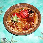recette Crème brulée fraise-coco
