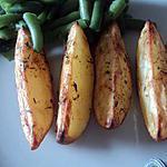 recette Potatoes Maison ( quartier de pomme de terre ) au four