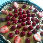 recette tarte à la crème pâtissière chocolaté fruité