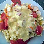 recette salade de pates au surimi sauce onctueuse