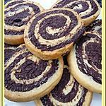 recette Petits sablés chocolat/vanille en forme de spirale