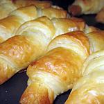 recette Croissants Feuilletés au Fromage