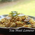 recette Riz et porc sauté au curry vert et des épices( Fenugrec, citronnelle, curcuma)
