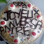 Gâteau au fruit et sa crème pour l'anniversaire de ma filles Eléna