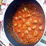 recette boulettes de boeuf sauce tomates et pâte