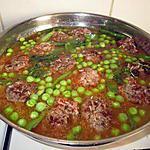 recette boulettes de viande    hachée   et petits pois; mangetout  de   fifibrand