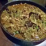 recette pote d aubergines et petit pois au lardons et jambon cru d espagne
