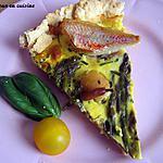 recette Tarte aux asperges, saint jacques et filets de rougets