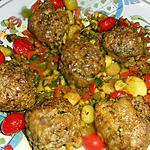 recette Boulettes aux épices avec sa poélée de legumes