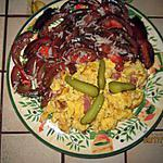 recette Brouillade aux lardons et noires de Crimée