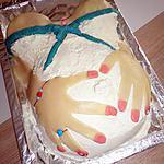 Notre gateau pour fêter mon anniversaire et mon 5éme mois de grossesse