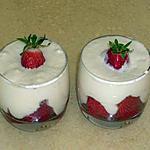 recette Tiramisu aux fraises et au sirop de violette