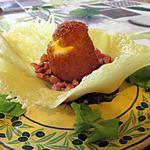 recette Galette bretonne revisitée sur fondue de fromage