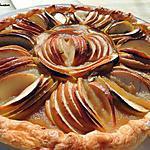 recette Tarte aux pommes en forme de fleur