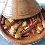 recette Tajine aux pommes de terre et merguez