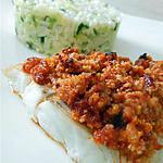 recette Poisson en crumble de chorizo