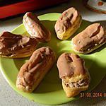 recette Eclairs au chocolat praliné