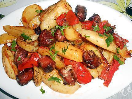 Pommes de terre et saucisses au four 430