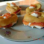 recette Eclairs saumon fumé et Boursin