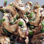 recette salade de champignons frais
