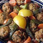 recette Tagine de boulettes de merlan aux légumes