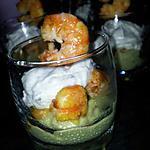 recette Verrines avocat crevettes et boursin