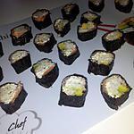 recette Sushi saumon avocat et boursin