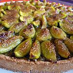 recette Tarte crème de noisettes, compote de figues et figues fraiches