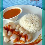 recette Noix de St Jacques sauce corail