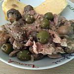 recette Blanquette de thon aux olives