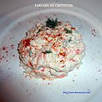 recette TARTARE DE CREVETTES