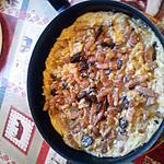 recette omelette champignons lardons