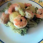 recette Scampi au brocolis et pomme de terre