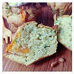 recette muffin salé au Fromage Fouetté Madame Loïk, courgettes, mimolette vieille et pignons de pin