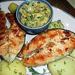 recette Darnes de saumon grillée sauce bearnaise