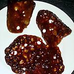 Chips et tuiles de Carambar (caramel et cola)